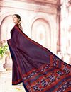 photo of Fancy Crepe And Art Silk Daily Wear Rust Saree