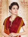 photo of Tempting Maroon Color Party Wear Cotton Printed Saree