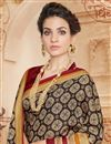 photo of Magnificent Brown And Beige Color Cotton Saree With Fancy Print Work