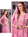 photo of Alluring Pink Designer Straight Cut Cotton Salwar Kameez