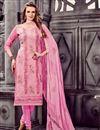 image of Alluring Pink Designer Straight Cut Cotton Salwar Kameez