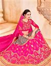 photo of Designer Party Wear Pink Color Net Lehenga Choli With Embroidery Work