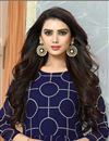 photo of Georgette Navy Blue Party Wear Anarkali Suit With Embroidery Work