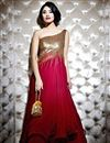 image of Double Layered Designer Party Wear Gown