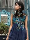 photo of Scintillating Dhoti Style Lycra Net Dress