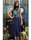 image of Scintillating Dhoti Style Lycra Net Dress