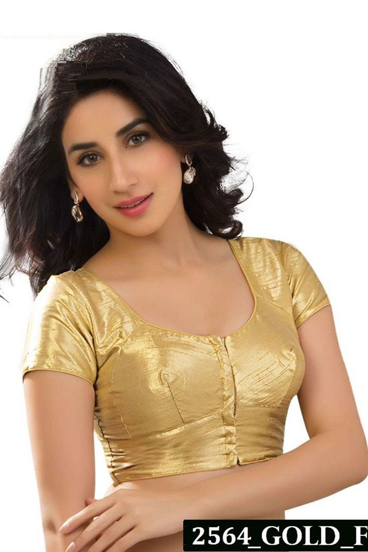 Best Selling Golden Color Designer Blouse