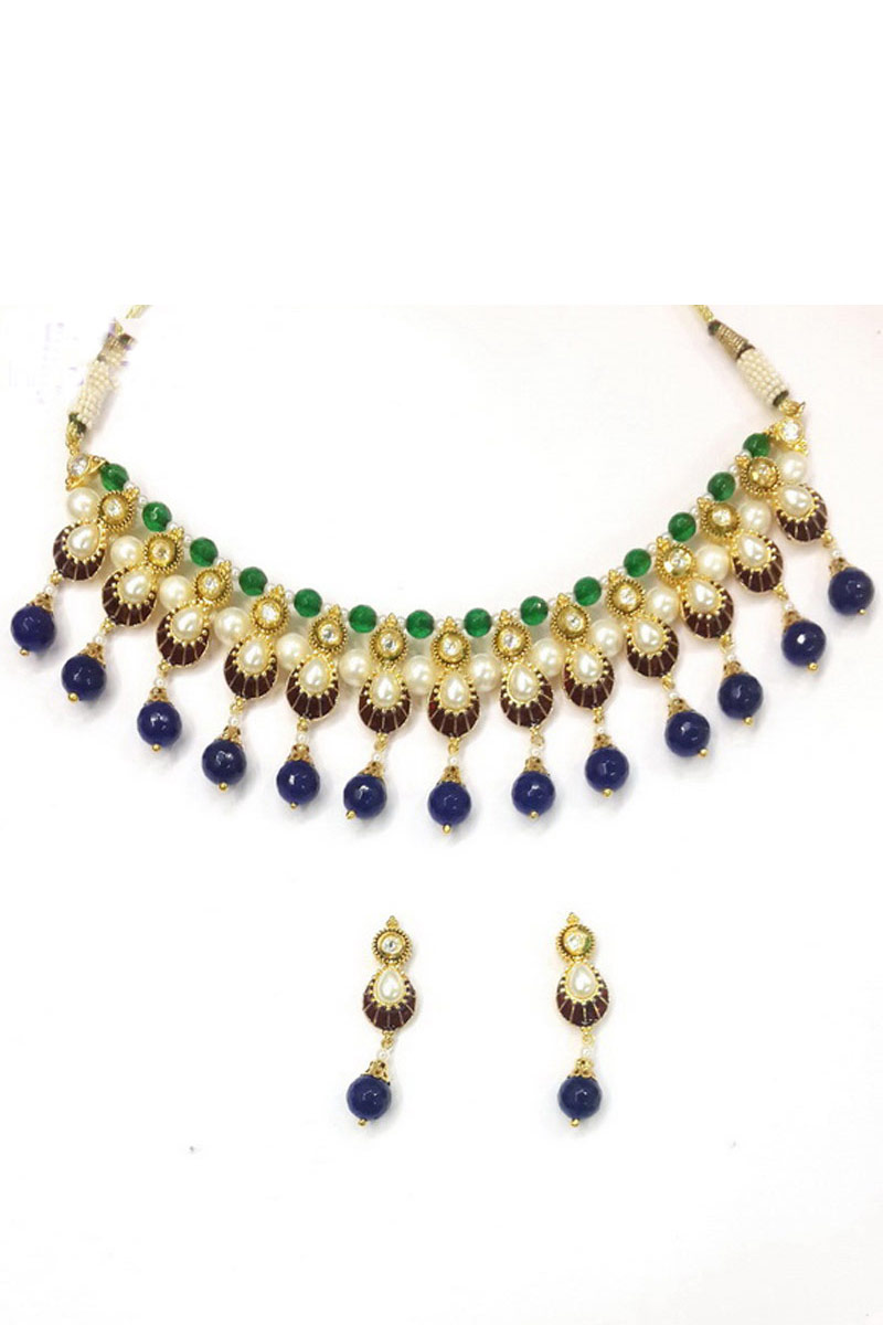 Artificial Traditional Fancy Necklace Set In Multicolor