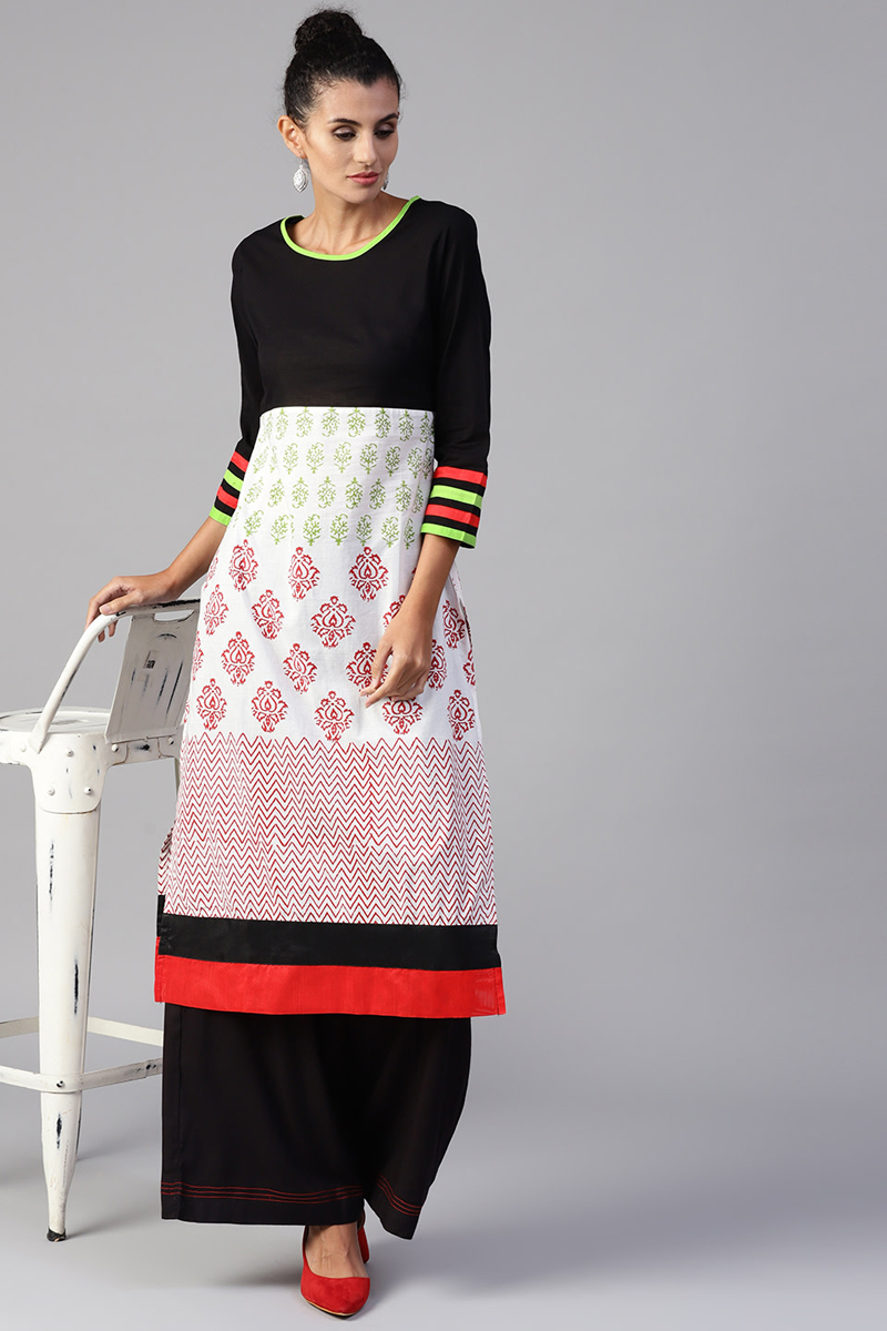 Exclusive Multi Printed Kurta With Palazzo