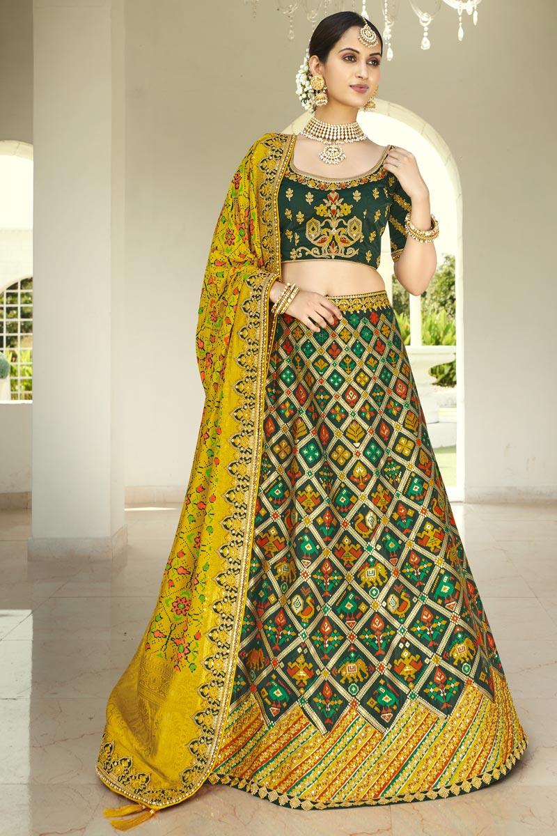 Fancy Embroidery Work Wedding Wear Lehenga