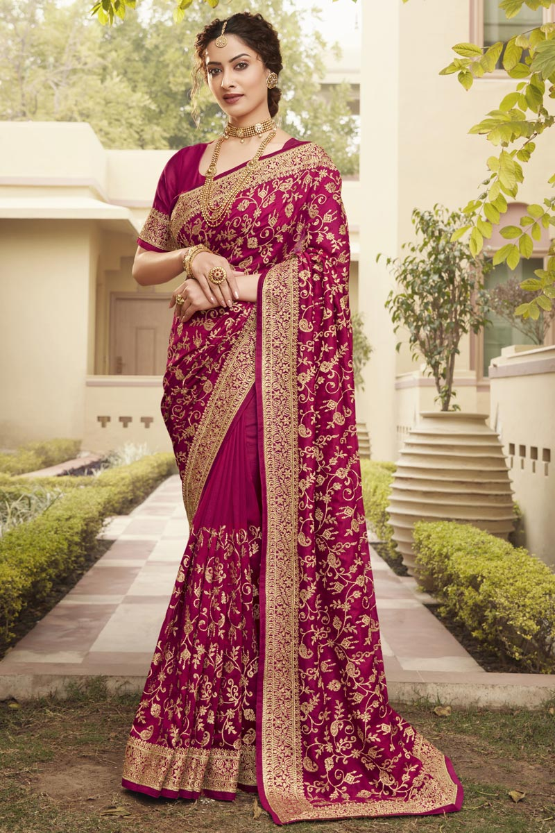 Party Wear Designer Art Silk Fabric Saree