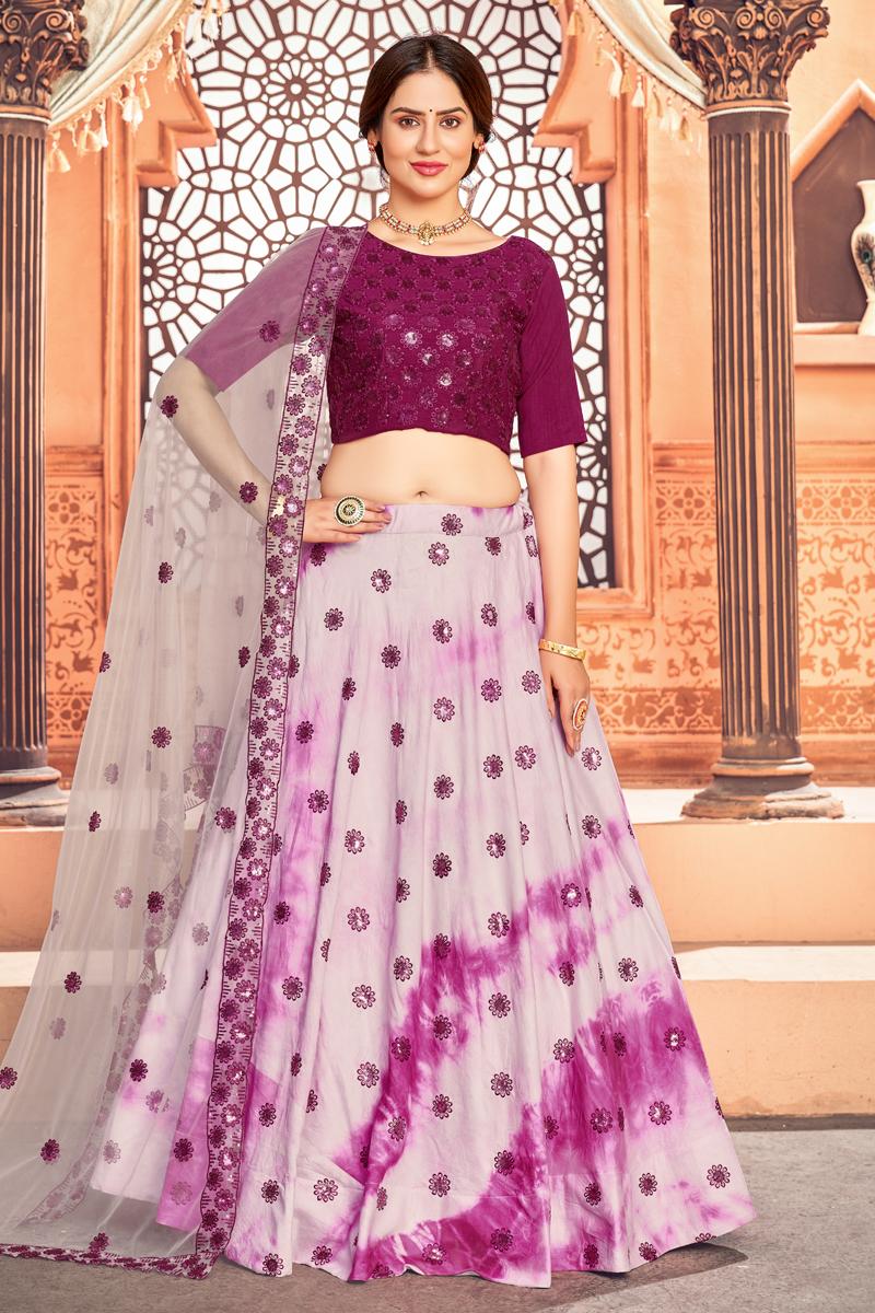 Pink Color Function Wear Cotton Fabric Printed Lehenga Choli