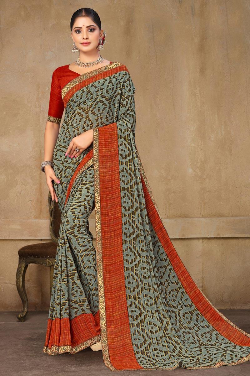 Multi Color Regular Wear Printed Saree