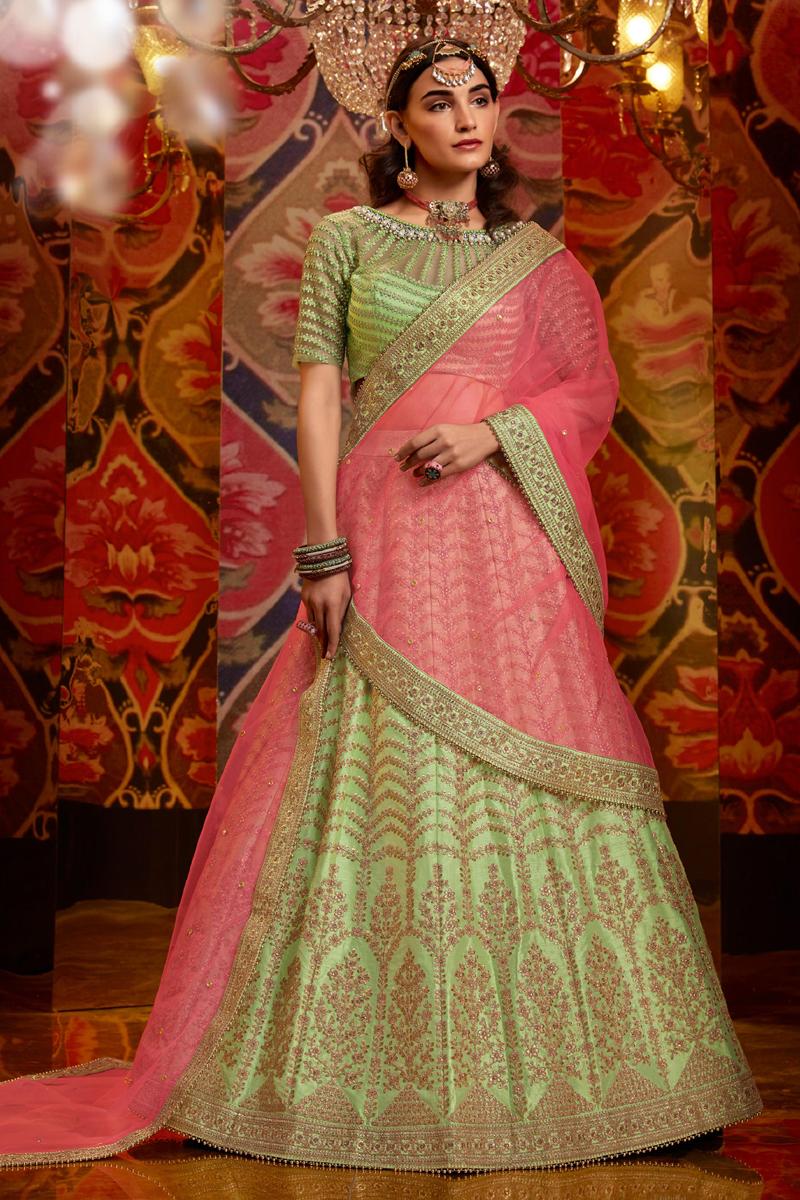 Embroidered Wedding Wear Lehenga Choli