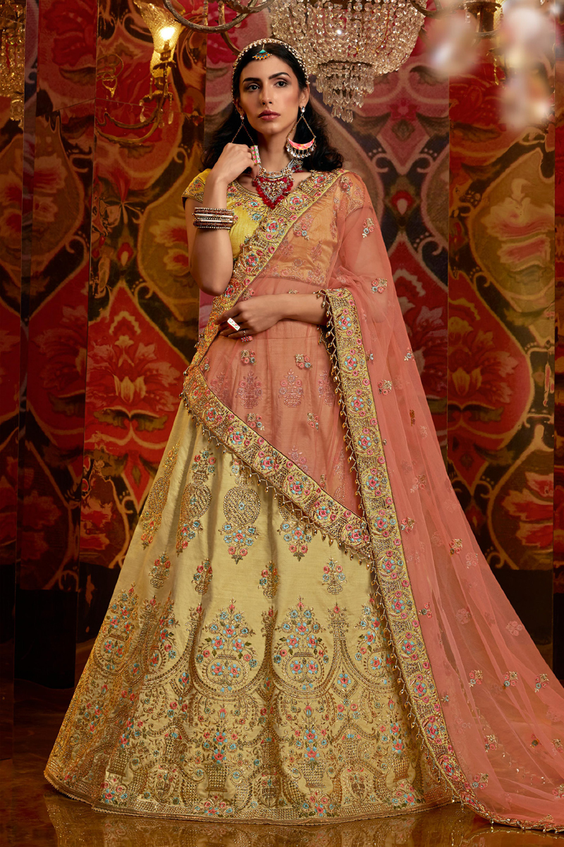 Embroidery Work Wedding Wear Lehenga