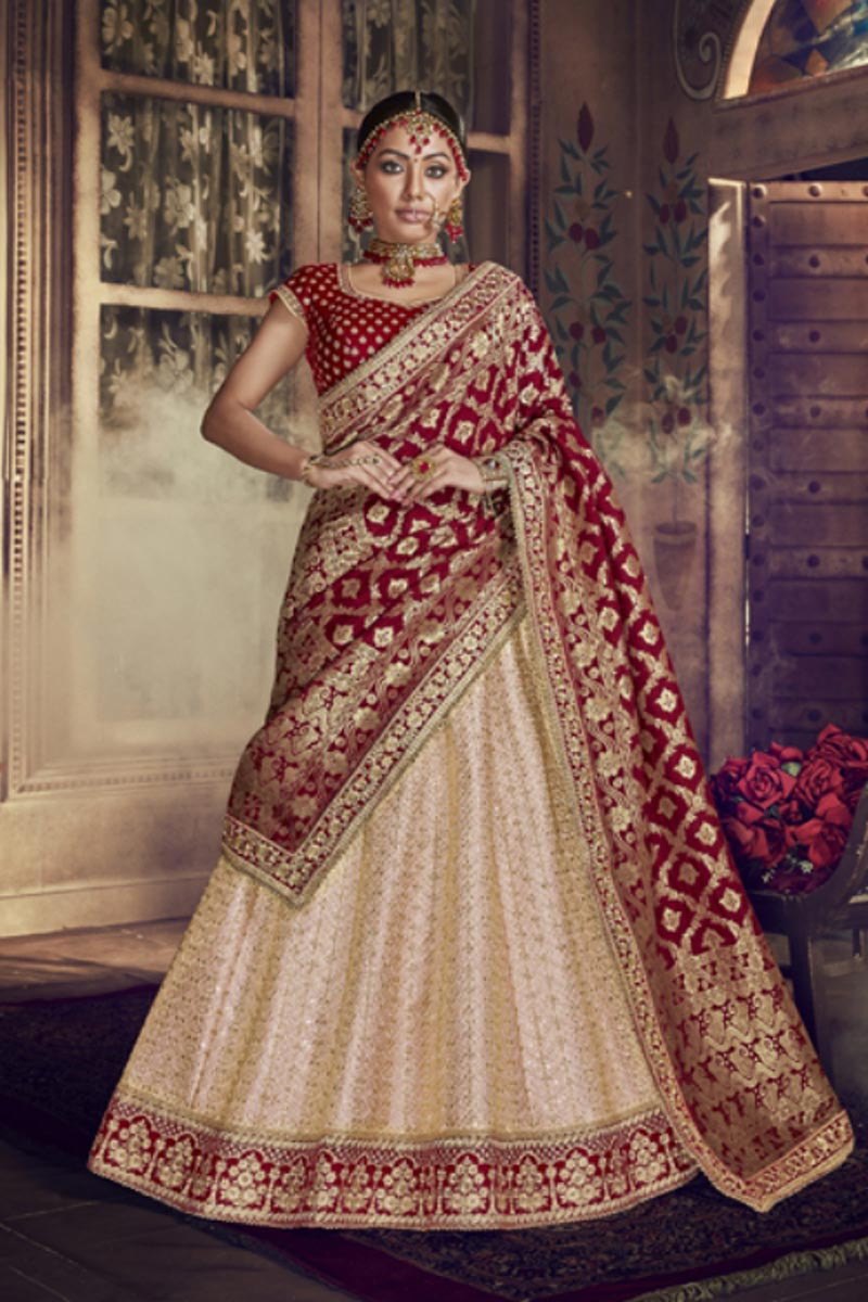 Festive Special Designer Art Silk Fabric Traditional Embroidered 3 Piece Lehenga Choli