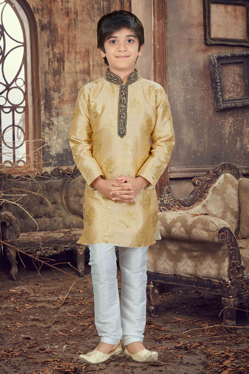 Function Wear Boys Kurta Pyjama In Art Silk