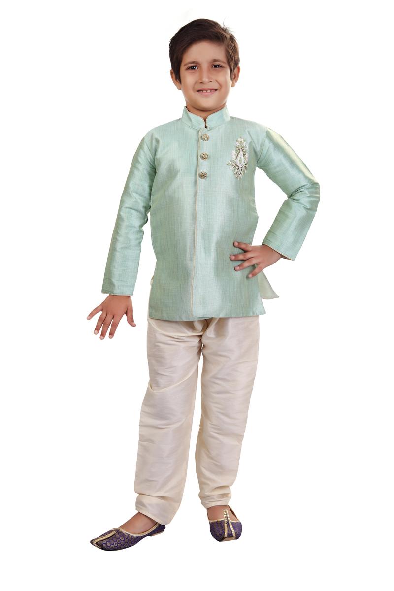 Art Silk Fabric Traditional Wear Boys Indo Western