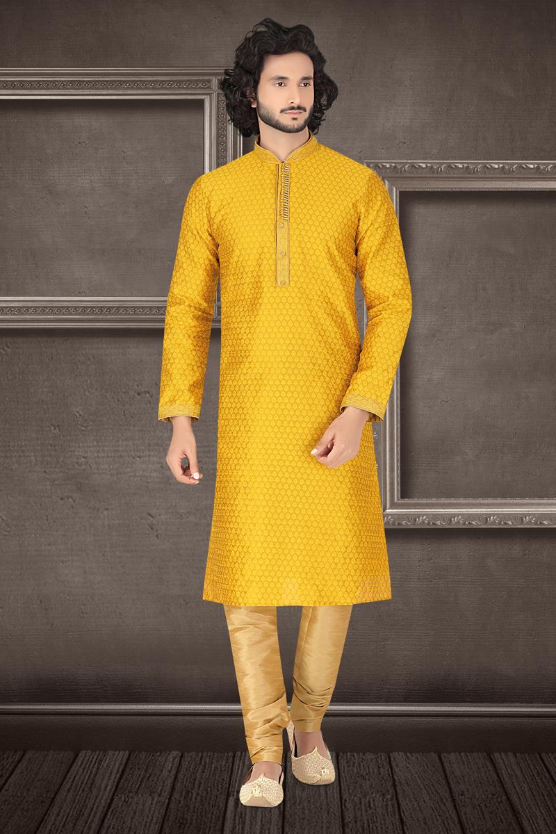 Jacquard Fabric Function Wear Kurta Pyjama