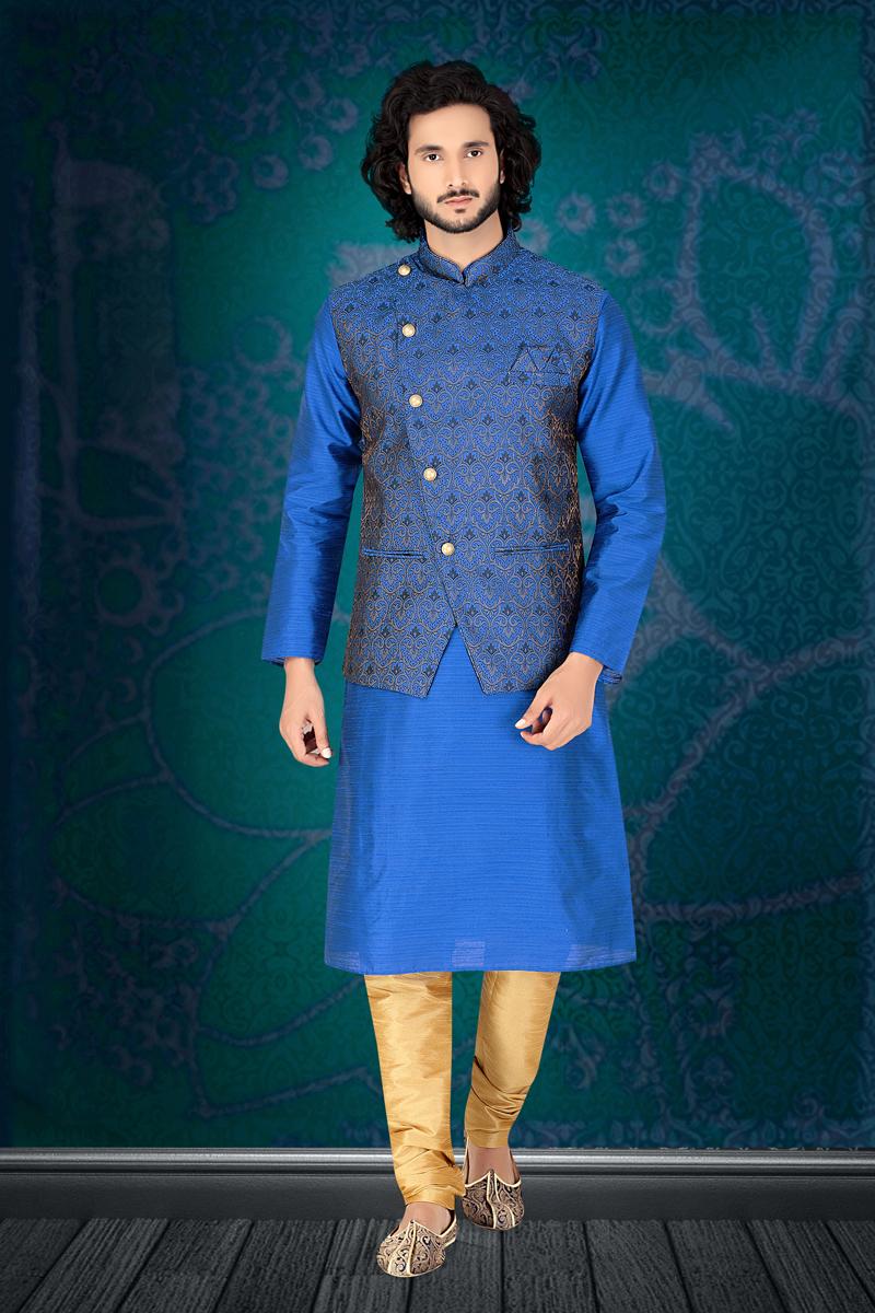 Sangeet Wear Kurta Pyjama With Modi Jacket