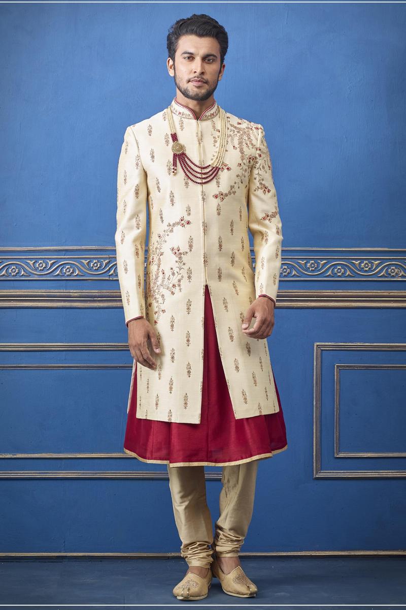 Wedding Wear Indowestern Groom Sherwani