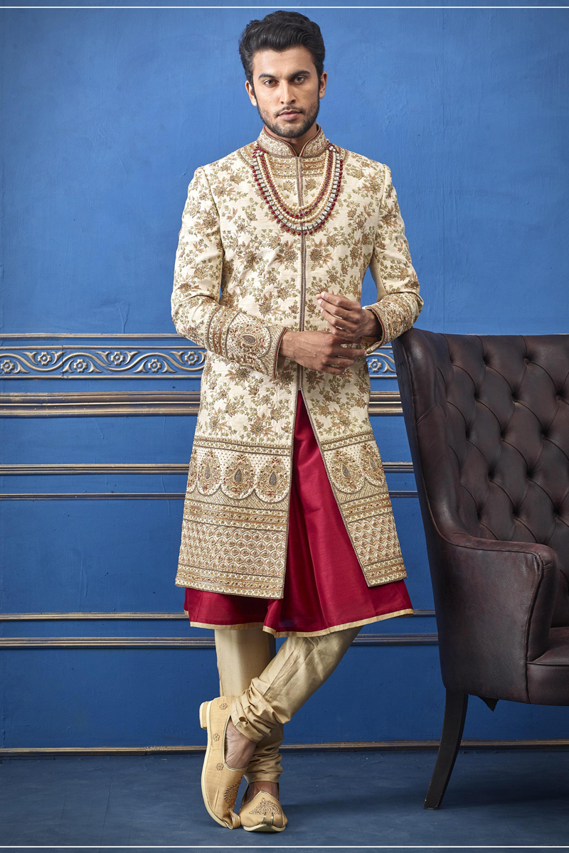 Mens Wedding Wear Indowestern Groom Sherwani