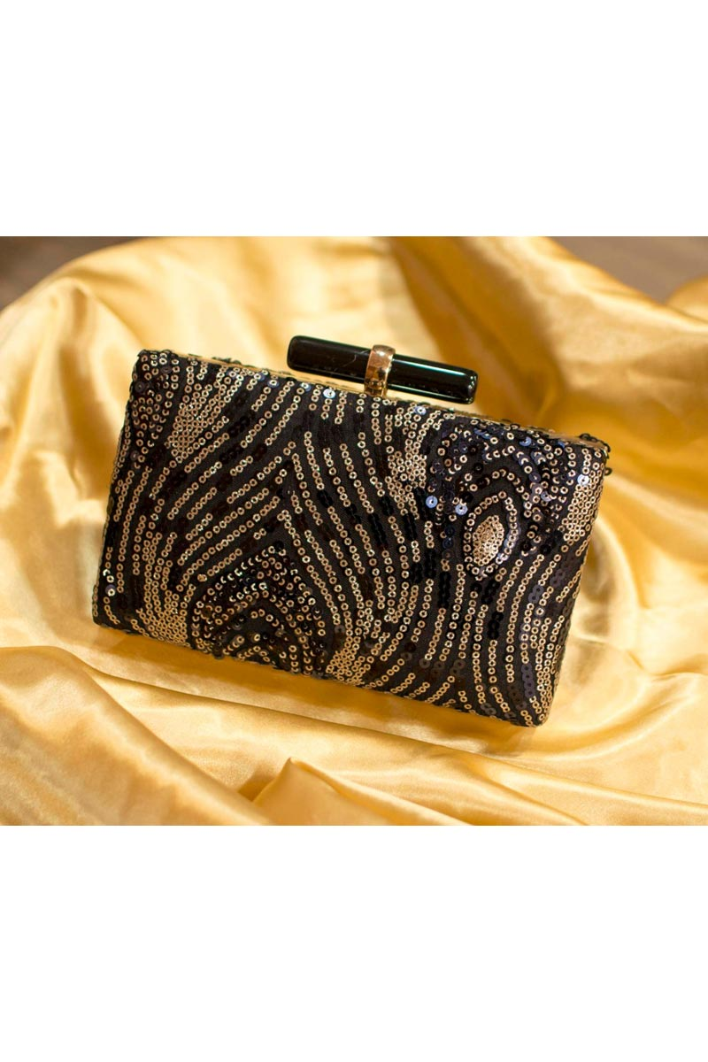Brown Color Party Style Designer Clutch Bag For Women
