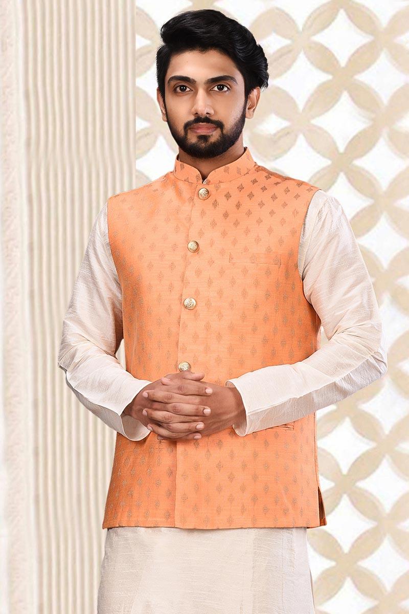 Cotton Fabric Peach Color Function Wear Jacket