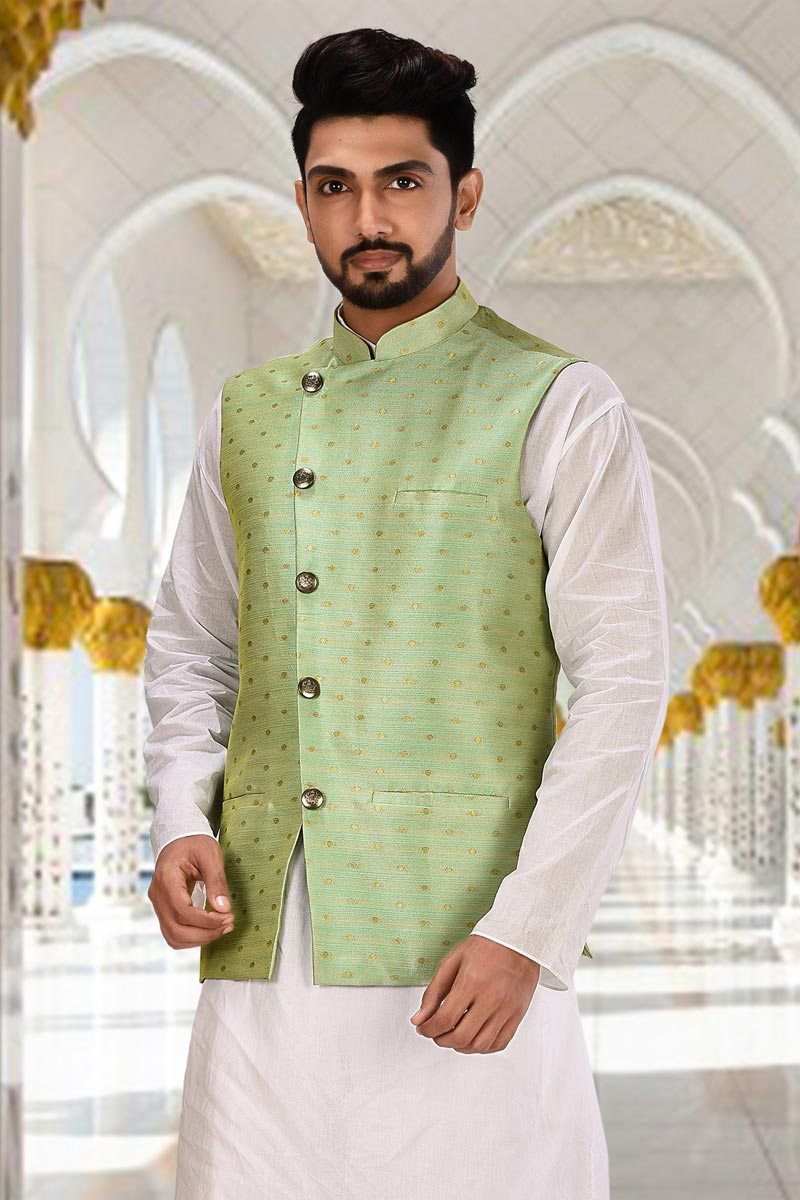 Sangeet Wear Cotton Fabric Jacket