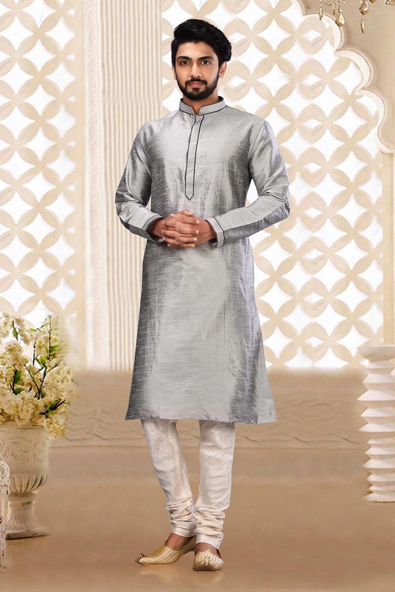 Sangeet Wear Dhupion Fabric Kurta Pyjama
