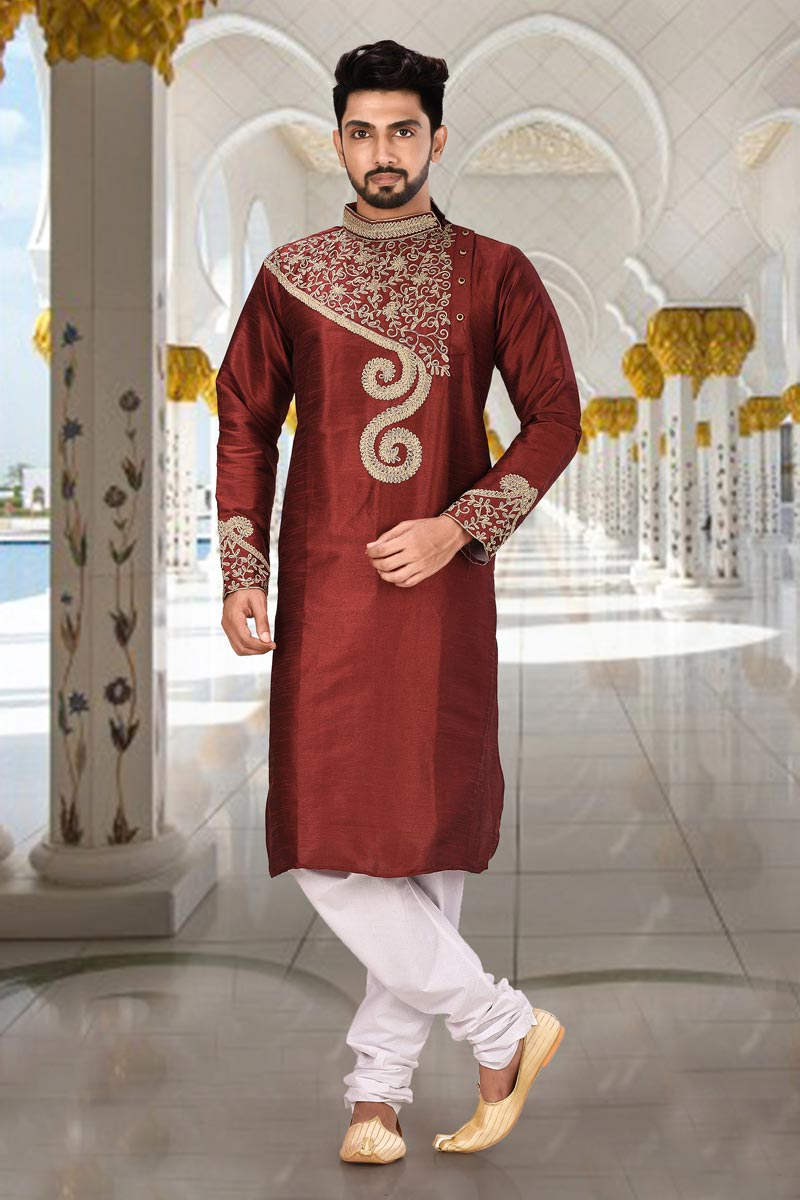Dhupion Fabric Function Wear Kurta Pyjama