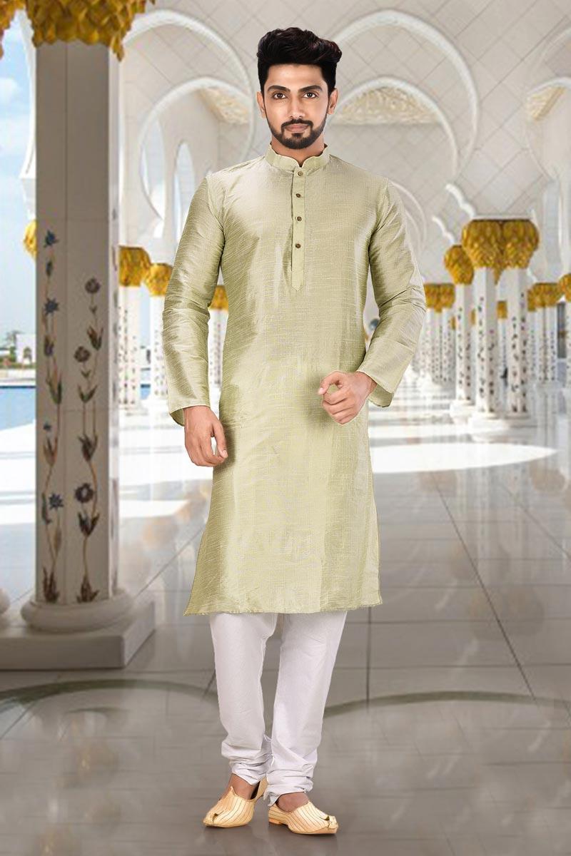 Dhupion Fabric Sangeet Wear Kurta Pyjama