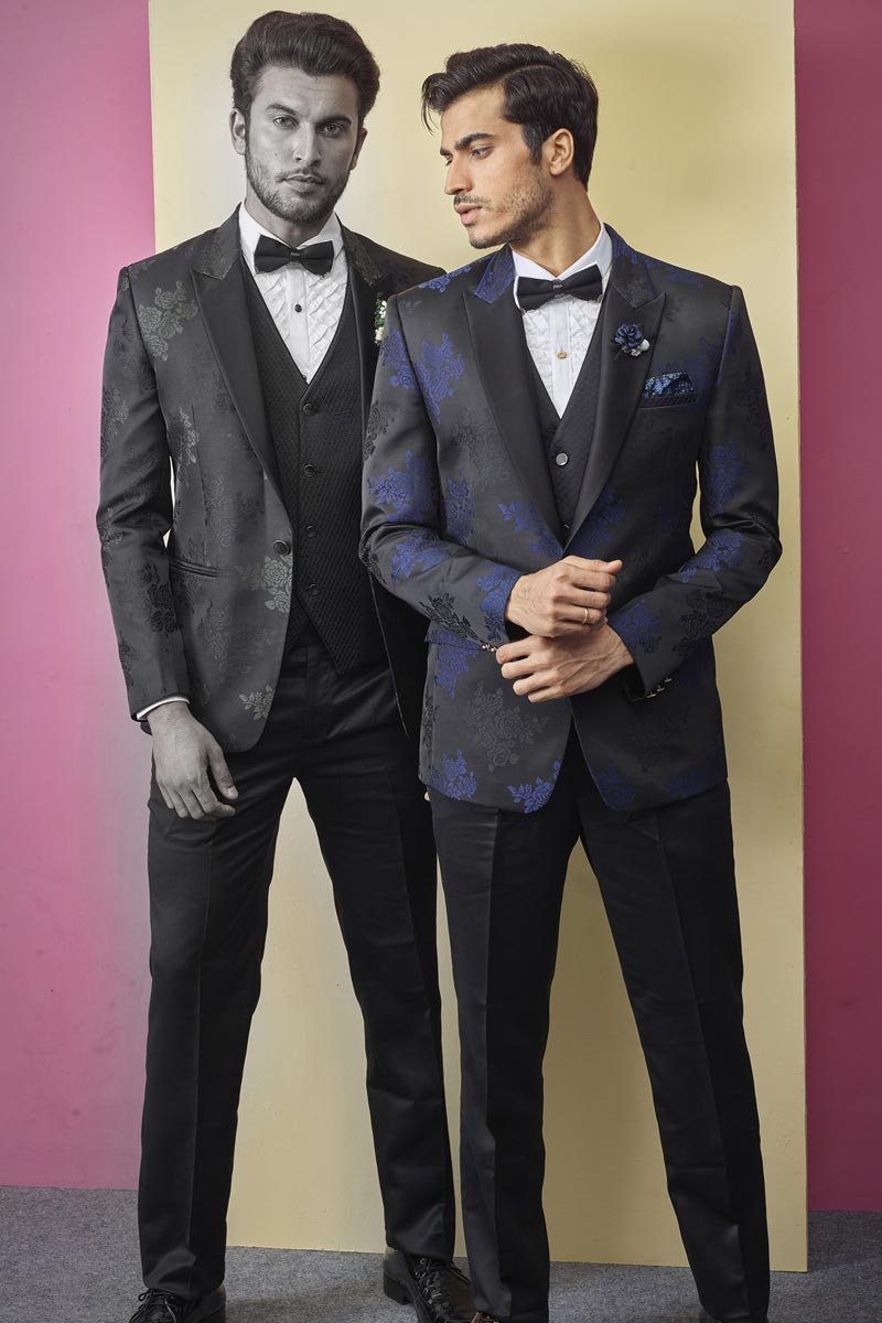 Fancy Fabric Festive Wear Stylish Readymade Designer Suit In Black Color