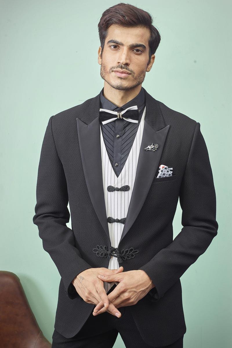 Black Color Readymade Designer Suit