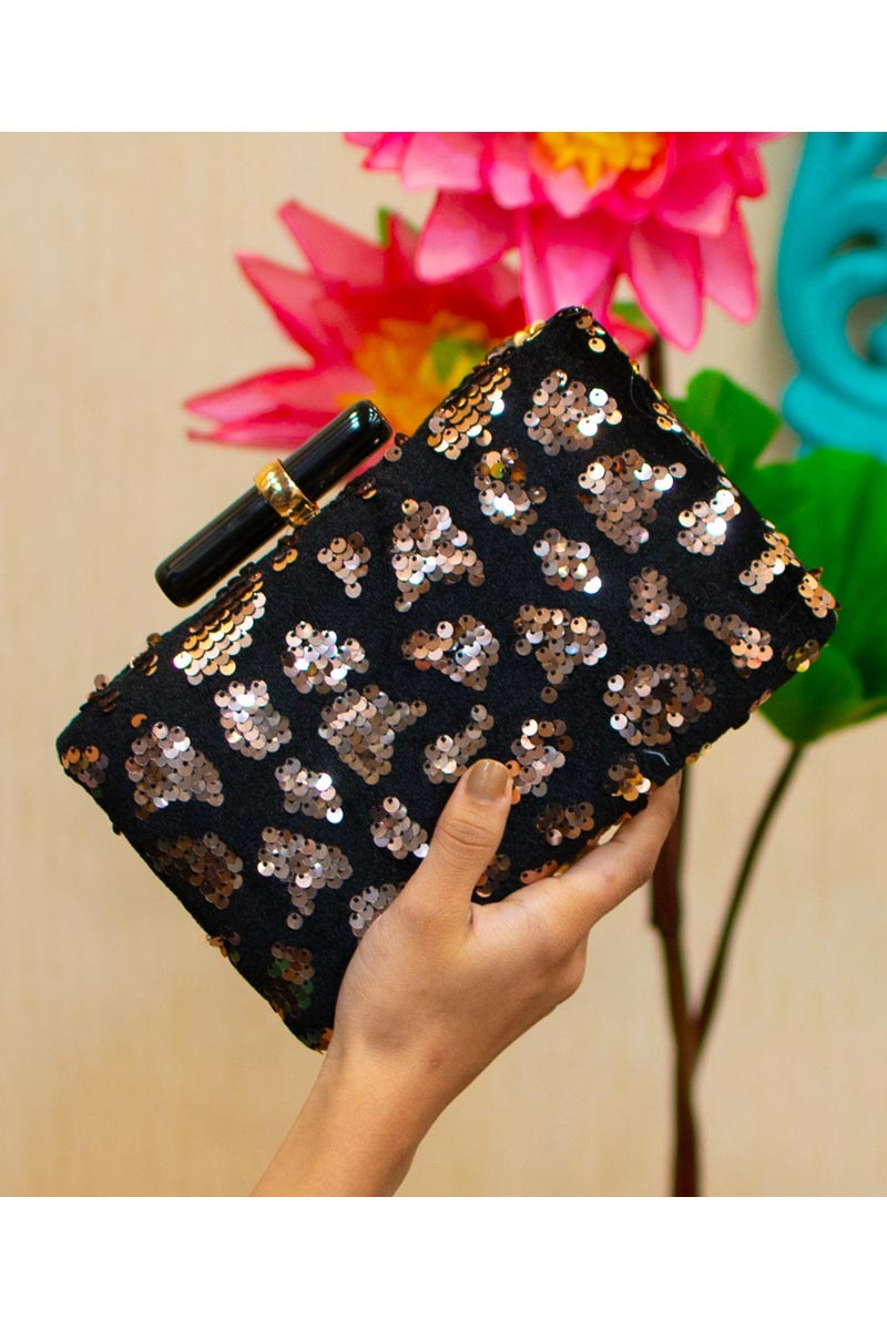 Black Trendy Party Style Clutch Bag For Women