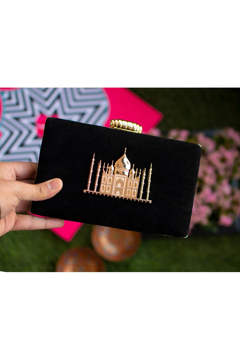 Trendy Party Style Clutch Bag For Women In Black