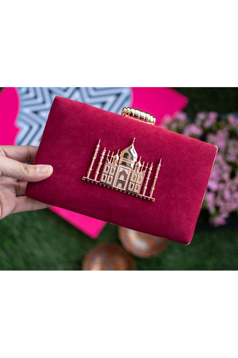 Pink Party Style Trendy Clutch Bag For Women