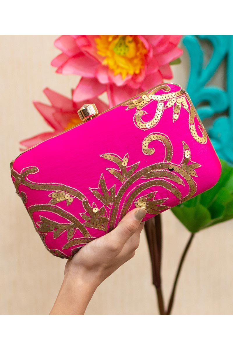 Rani Color Designer Party Style Clutch Bag For Women