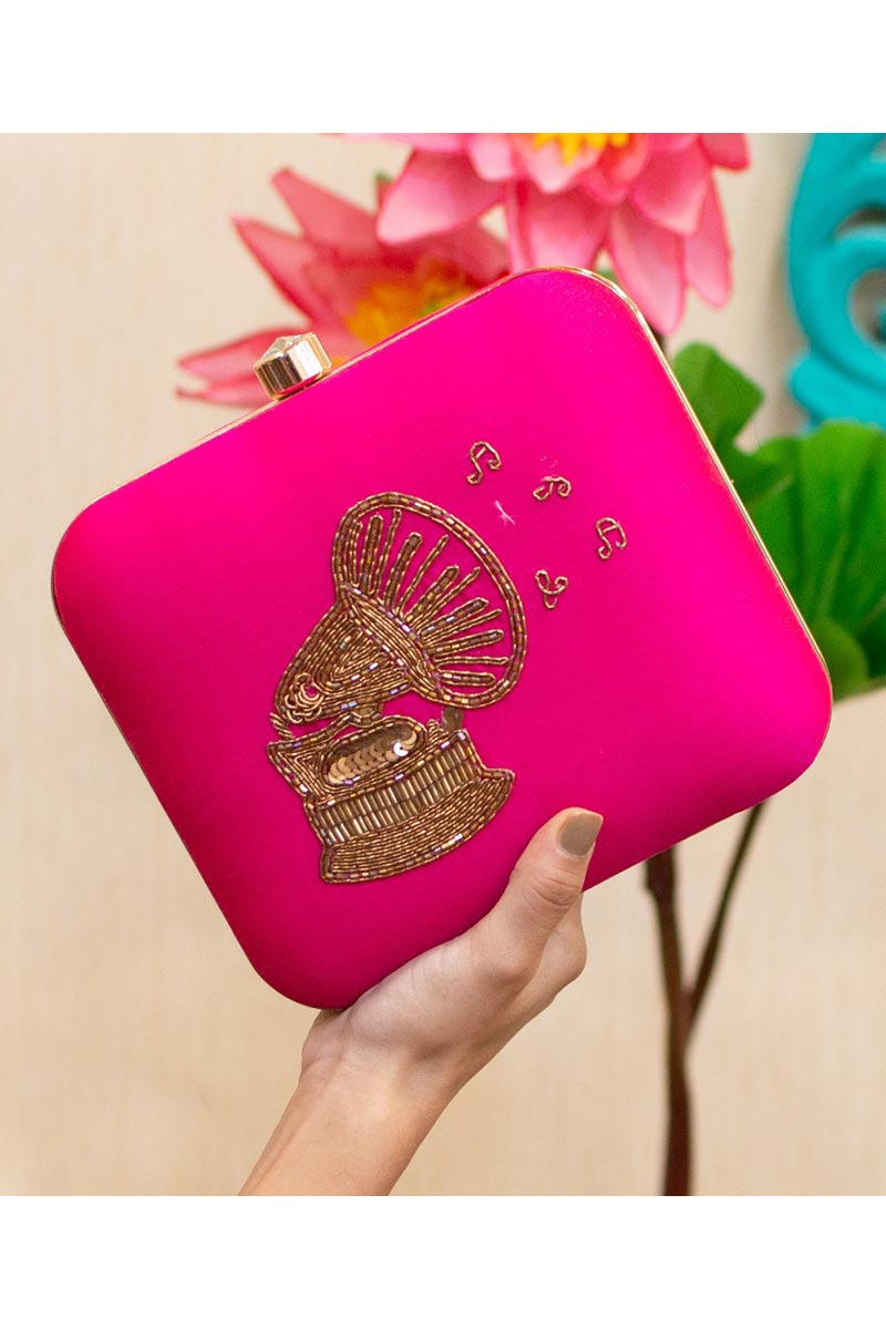 Rani Color Alluring Party Style Clutch Bag For Women