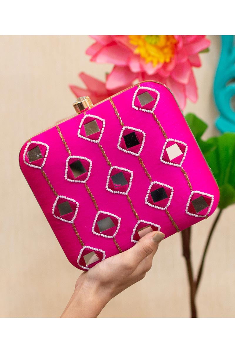 Rani Color Party Style Alluring Clutch Bag For Women