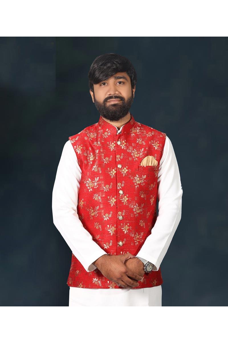 Sangeet Wear Stylish Jacquard Fabric Jacket