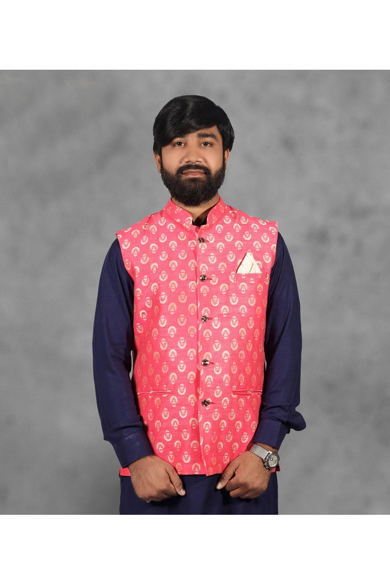 Pink Color Function Wear Stylish Jacket