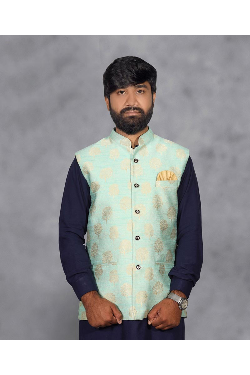 Mens Function Wear Sea Green Color Stylish Jacket