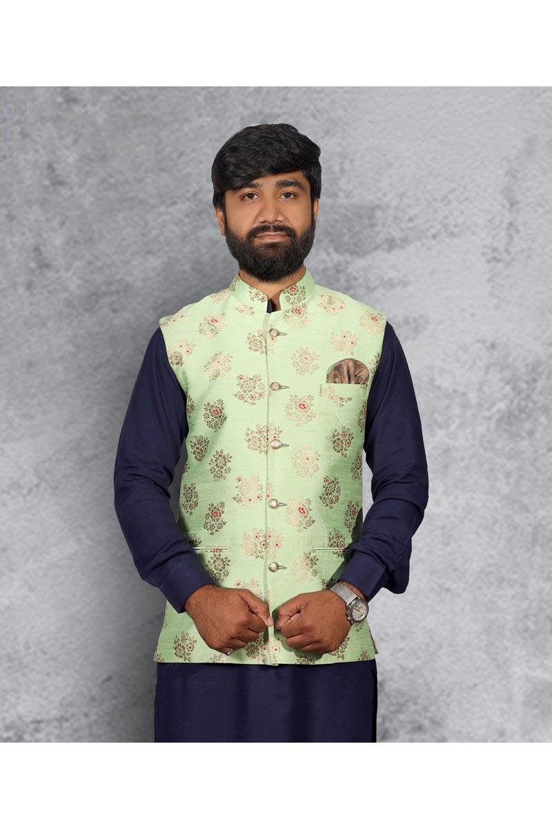 Festive Wear Stylish Designer Jacket In Sea Green Color