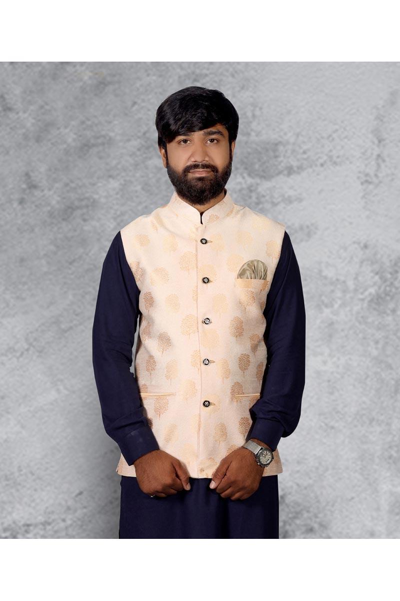 Festive Wear Modi Jacket In Off White Color
