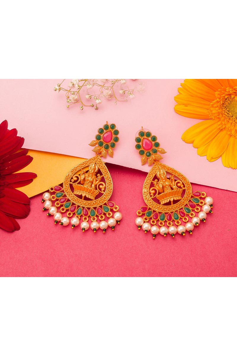 Alloy Golden Color Function Wear Gold Plated Earrings