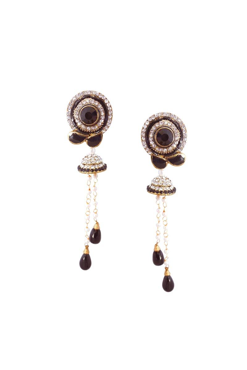 Brown Color Alloy Festive Wear Earrings