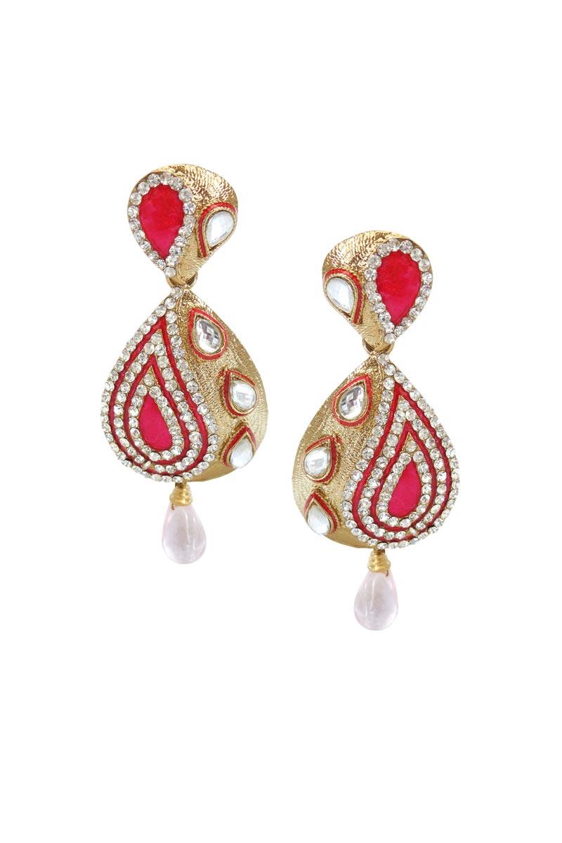 Rani Color Alloy Party Wear Earrings