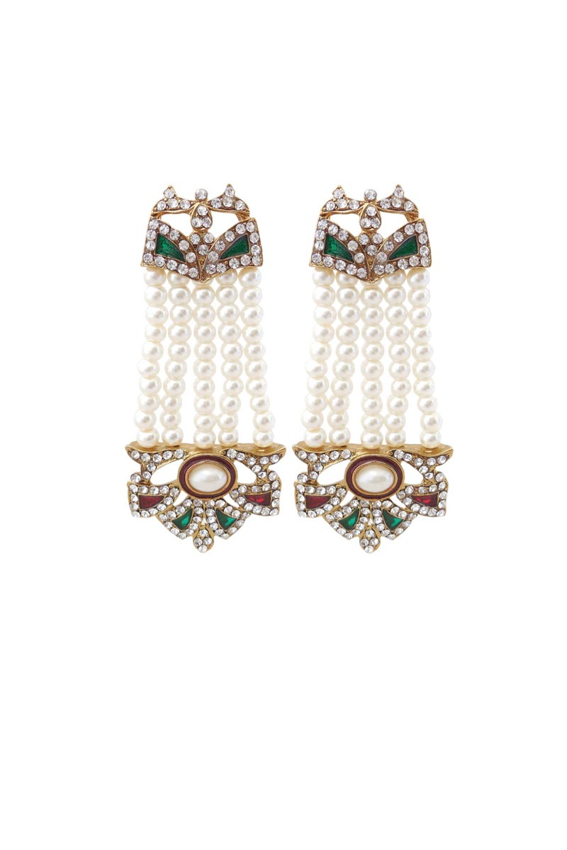Silver Color Brass Material Party Wear Trendy Earrings
