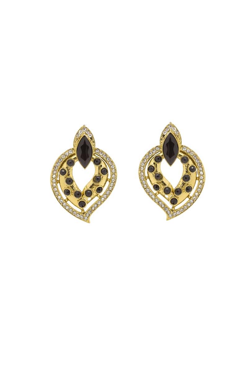 Golden Color Brass Material Party Wear Trendy Earrings